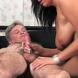 Impotent oldie trying to fuck her