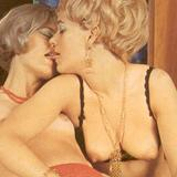 Hairy retro lesbians with strapon
