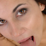 Amateur Mia face blasted with hot cum