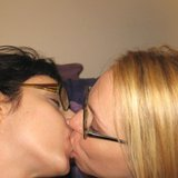 Two hot MILFs in glasses getting fucked in threesome