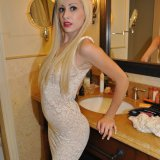Ravisher blonde exgirlfriend temptress Hilary showing her hot body in the mirror