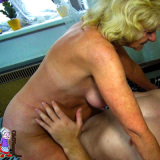 Gorgeous old woman fucked by strapon