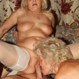 Dirty grannies Francesca and Erlene go for a threesome and take turns in getting fucked