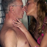 An old dude banging a young willing teen hottie