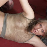 Horny babe pleasures senior owner of a workshop