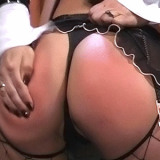 Hot lesbian bound and ass spanked