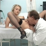 Judith is wearing her favorite heels and stockings as she gets fucked on a hospital bed