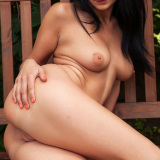 Outdoor - Kat is a flexible girl with long brown hair, gorgeous legs and nice boobs. Say hello and see her spreading her legs fo