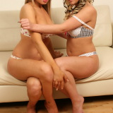 Kate's Playground: Kate's sexy blonde girlfriends Brooke and Lisa love to tease as they strip each other naked