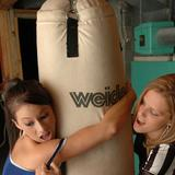 Karen teaches Kate how to box!